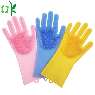 Silicone Washing Cleaning Brush Gloves Pencuci Piring Glvoes