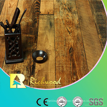 Commercial 12.3mm HDF AC4 Embossed Oak V-Grooved Laminate Floor