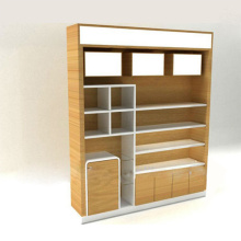 High Quality Wooden Acrylic Makeup Cosmetic Display Stand