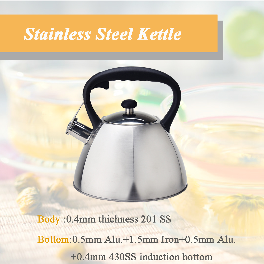 stainless steel whistling teapot