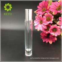 Cosmetic transparent glass skincare beard perfume oil white glass roller bottles essential oil 10ml for packaging