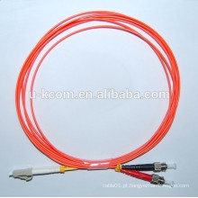 LC / ST MM cabo de remendo de fibra óptica duplex