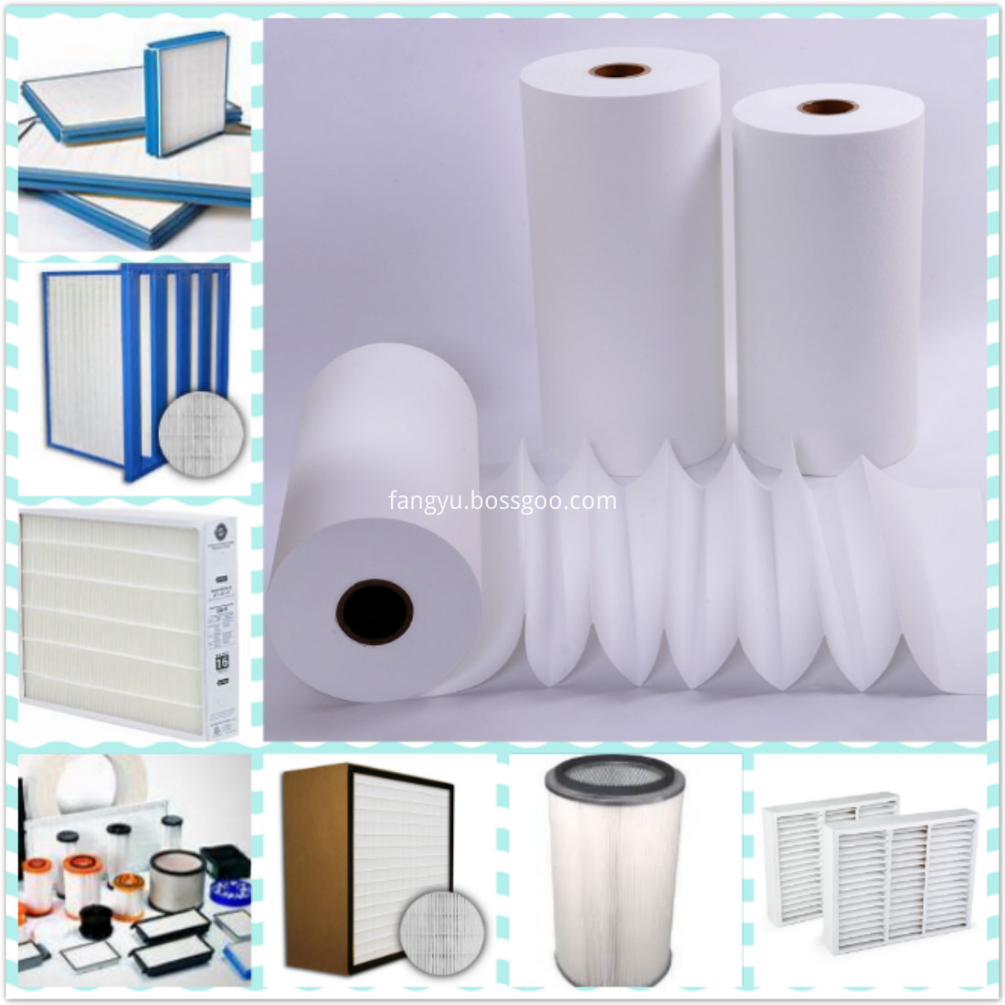 Spunbond PP HEPA Auto Air Filter Paper For The Car-FILTER MEDIA
