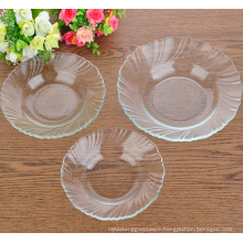 Eco-friendly Glass Salad/Dessert Plate,glass charge plate