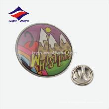 Emblema redondo de presente epoxy personalizado com embreagem de borracha