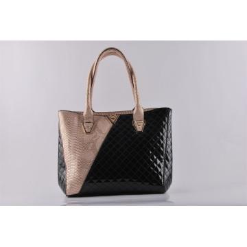 New Design Fashion PU Croco Matching Embroider Lady's Shoulder Bag Sac à main (NM-W03)