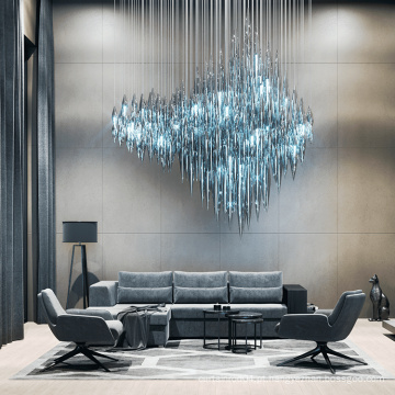 Lustre de cristal profissional personalizado exclusivo para sala de estar