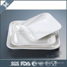 "8"" square white porcelain dinner pate, pizza plate,"