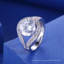 accesorios nupciales 2018 anillo de piedra blanco grande mujeres compromiso anillo de bodas