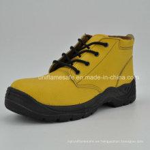 Botas de trabajo de seguridad de cuero amarillo para mujeres Ufb057