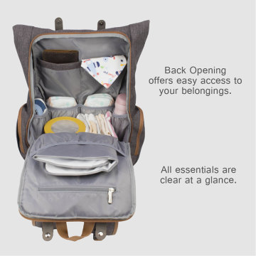 Duurzame reismama Baby Changing Bag Backpack