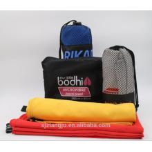 Personalizado Soft Micro Fiber bath Deportes Toalla de viaje Set Tela Rollo de microfibra beachTowel