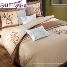 Образцы доступные 100% хлопок в полоску постельных принадлежностей, выбор постельных принадлежностей гостиницы