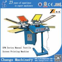 Spm 4-8 Cores Manual T-Shirt / Máquina de Impressão Da Tela