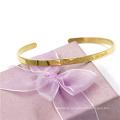 Christmas Gift 4mm Rose Gold Customerized Bangle Stainless Steel Jewelry Bracelet