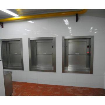 Домашний ресторан широко используется вертикальный пищевой лифт гидравлический думбвейер