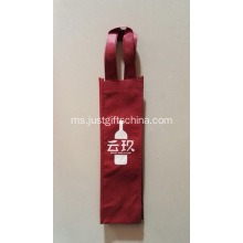 Imprinted 1 Bottle Carrier Tote 80GSM Non Woven