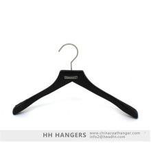 Branded Metal Placque Antique Brown Adult Suit Wooden Top Hanger