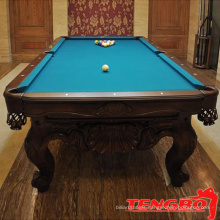 Colorful colth red snooker table and pool table