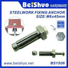 Boulon d'expansion en acier inoxydable hexagoné M6 * 45 mm / ancre de fixation