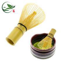 Hecho a mano 100 dientes bambú dorado Matcha chasen batidor