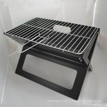 Barbecue au charbon de bois pliant en forme de X de vente chaude