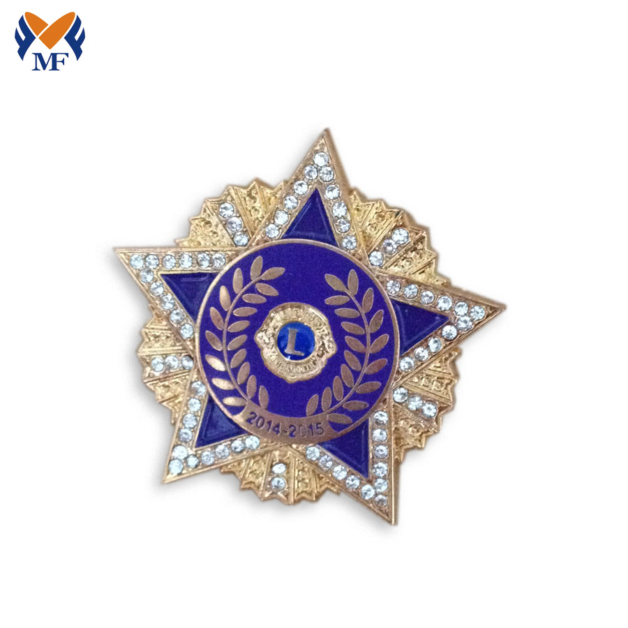 Star Badge With Diamond