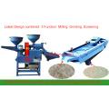 DONGYA tamiz vibratorio combinado pequeña máquina de molienda de arroz