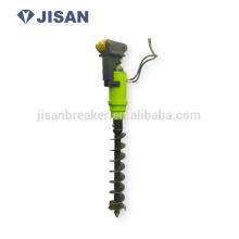JISAN earth drill auger on mobile crane