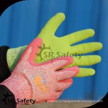 SRSAFETY winter use style,latex foam machine gloves