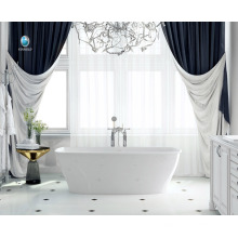 Material de piedra de resina de diseño de baño de lujo no cubierta de baño interior de una persona baño caliente