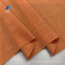 Tissu de chemise pour femmes 100% polyester tissé uni