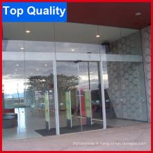 Porte coulissante automatique en verre plein avec bonne qualité