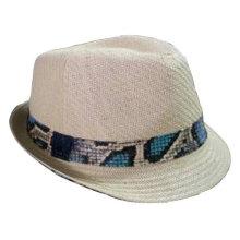 2013 nouveau chapeau en paille avec bande de ruban colorée