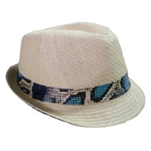 2013 new straw hat with colourful ribbon band