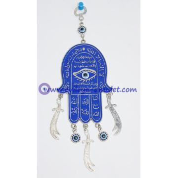 Hamsa Hand Wall Hanging Amulet Handmade Turkish Evil Eye Bead