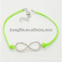 Зеленый провод диамант номер восемь сплав тканые браслет