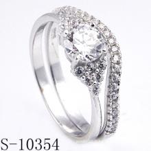 Bague argent rhodié de mode pour les bijoux personnalisés (S-10354)