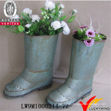 Shoe Shape Garden Metal Planter Flower Pot