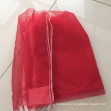 Mono firewood mesh bag,bottom sewing and top with drawstring