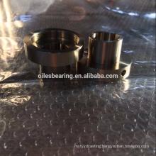 variant CuZn25Al5 solid bronze bearing,Copper alloy Flange bush,excellent performance OEM casted oiless bush