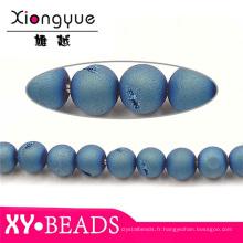Véritable bijoux naturel facettes ronde perles collier de pierre gemme