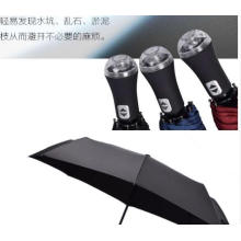 Automatic Foldable Waterproof LED Handle Umbrella with LED Light Handle