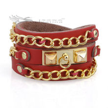 Bracelets en cuir de mode Bracelets en cuir italiens Matériau en peau de vache Nickel & Lead Free Hot Items