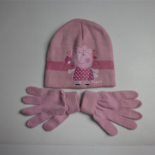 2016 stricken rosa Peppa Pig Hut Handschuhe