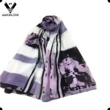 Мода леди печати 100% шелковый шарф для оптовых