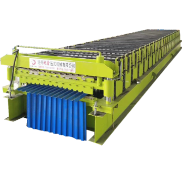 Lembaran Roofing Trapezoidal Purlin Roll Forming Machine