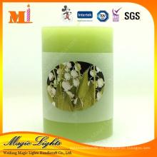 Vela perfumada simple del té verde