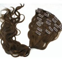 Overnight Shipping Cheap 100 Peruvian Human Virgin Blonde Hair Natural Wave Clip In Hair Extensions