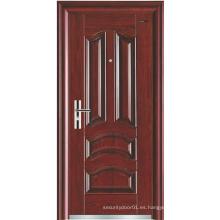 Panel clásico Diseño simple Puerta de acero de seguridad